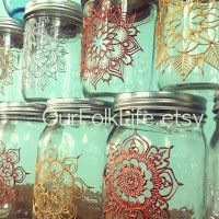 Mandalas Ideas: Mandala in a Mason Jar
