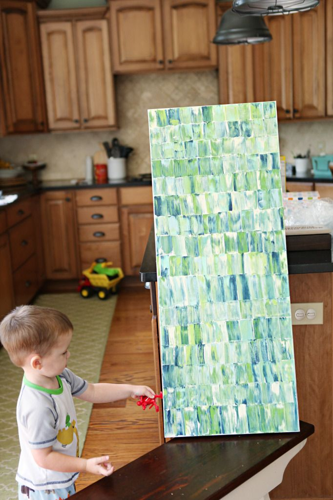 Palette Knife Art - super easy canvas painting project to add some color to any space