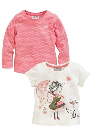 Buy Girl And Spot Tops Two Pack (3mths-6yrs) from the Next UK online shop