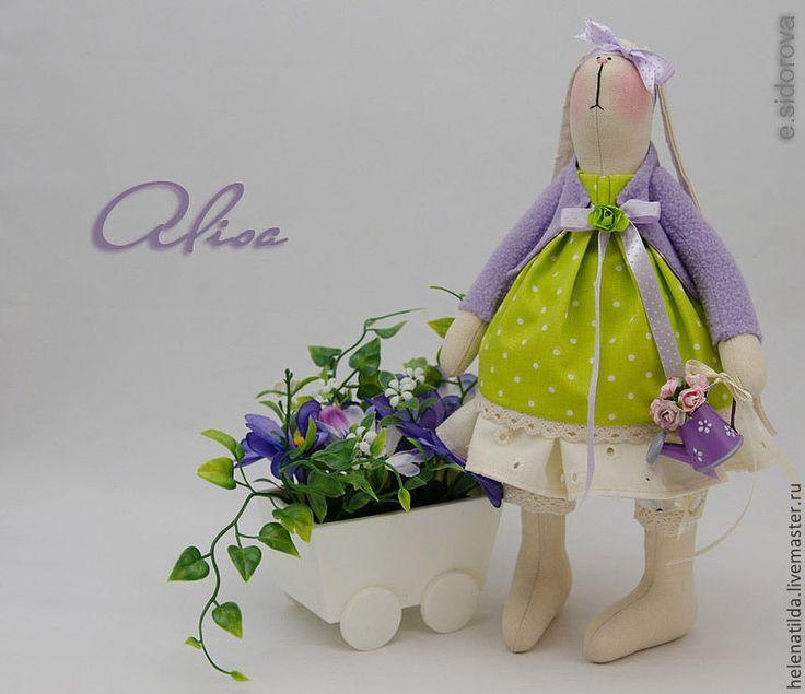 Зайка Alisa - сиреневый,салатовый,бежевый,зайка,тильда,зайка тильда,тильда заяц