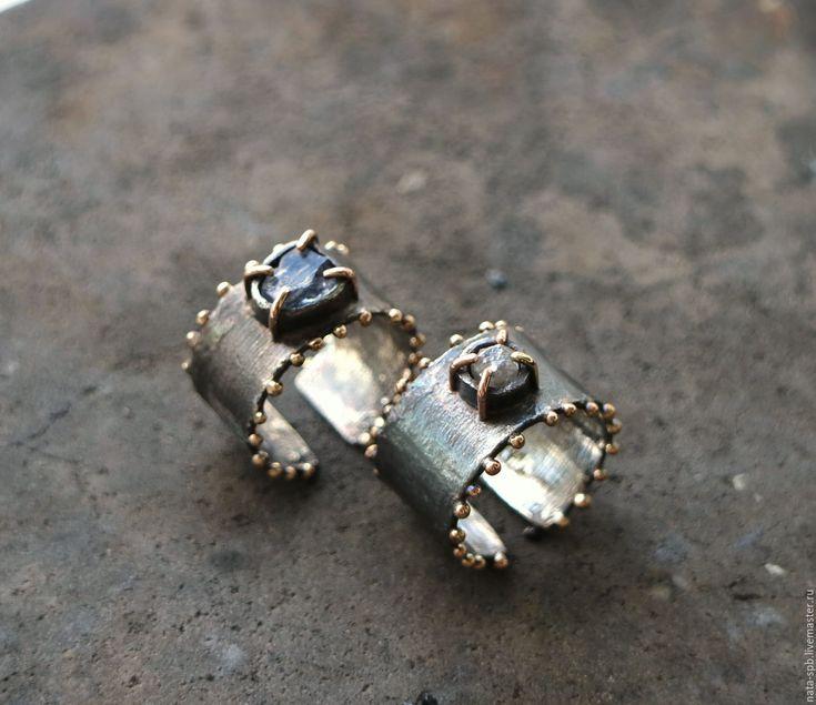 Купить В МОРЕ ВОЮТ УРАГАНЫ... кольцо # 2 (алмаз, серебро, золото)