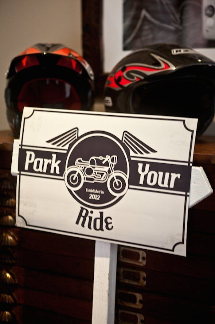 Vintage Motorcycle themed birthday party