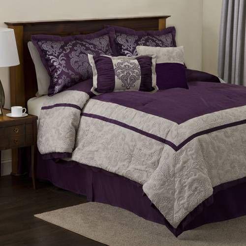 Plum bedding set bedroom ideas pinterest for Plum bedroom designs
