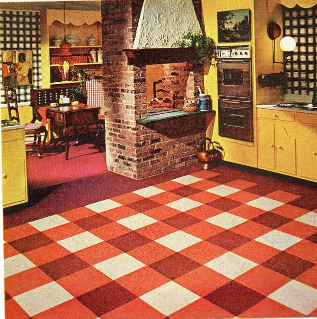 1967 Ozite Carpet Tiles Kitchen My Dream Kitchens Pinterest And