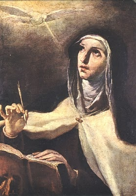 St. Teresa of Avila, patron saint of: Bodily ills, headaches, lacemakers, laceworkers, loss of parents, opposition of Church authorities, people in need of grace, people in religious orders, people ridiculed for their piety, sick people, sickness, Spain