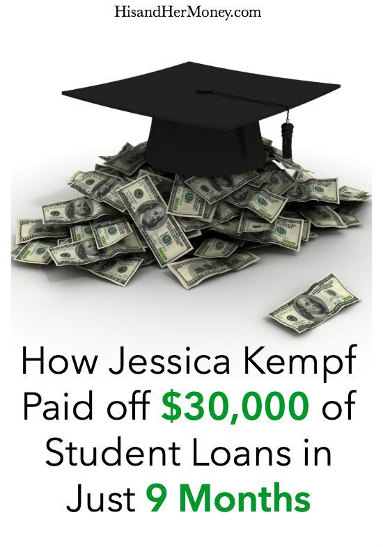 """One of the biggest financial burdens that many people face today comes in the form of student loans. It has surpassed credit card debt as the top source of financial strain for most households. As a result of this financial crisis, many have resorted to the fact that they will """"always"""" have a student loan payment. With a little hard work and dedication, you can eliminate your student loans once and for all. Jessica Kemp paid off $30,000 of student loan debt in 9 months!"""