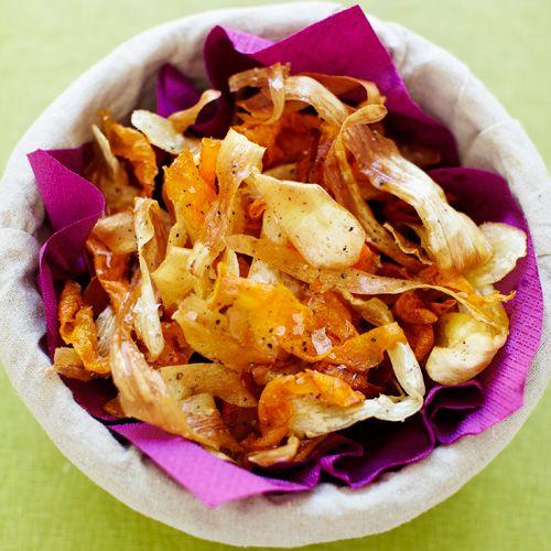 Pastinaak- & wortelchips recept - Jamie magazine