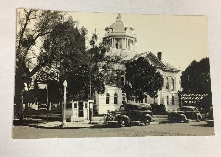 VTG Taylor County Court House Perry Florida ORIGINAL Postcard Free Shipping