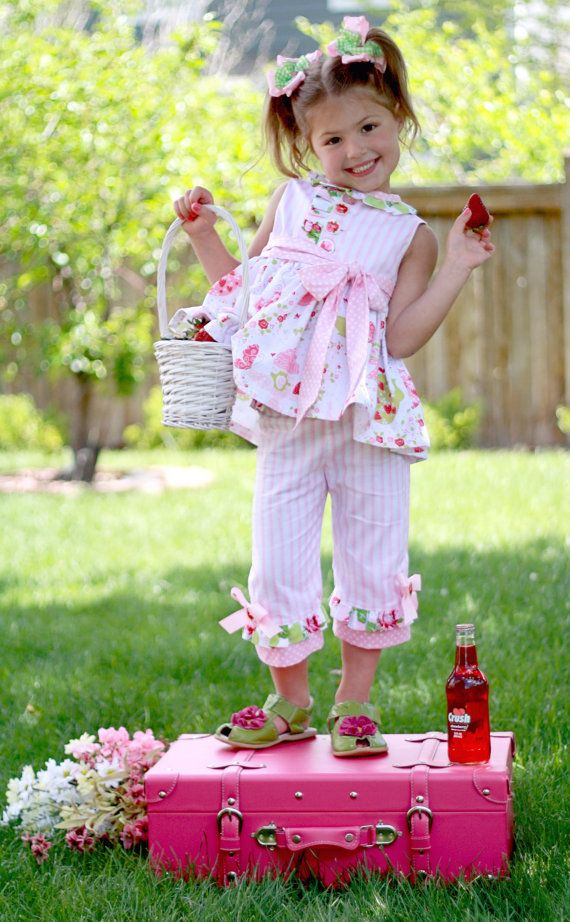 PDF Pattern - Miss Matilda Dress and Top, Size 6 Month - 10 Years by The Cottage Mama