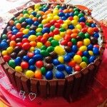 Buon compleanno Anna!!!! – Torta kitkat e M&m's
