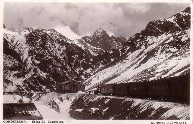 Tren,  es la combinacion trasandina Los Andes - Mendoza
