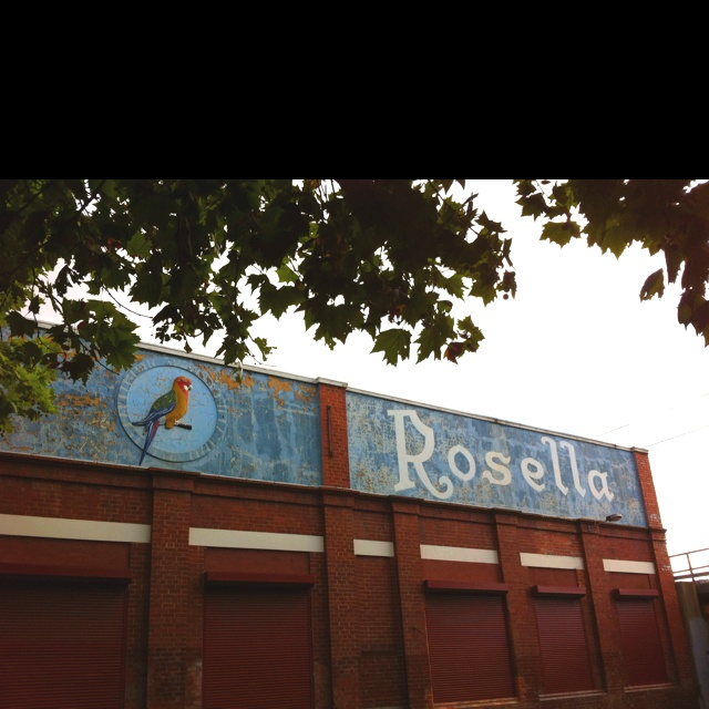Rosella embedded sign. Richmond, Victoria. #classic