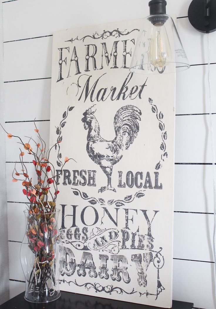 An easy tutorial on how I used Iron Orchid Designs image transfer to create a vintage farmhouse sign.