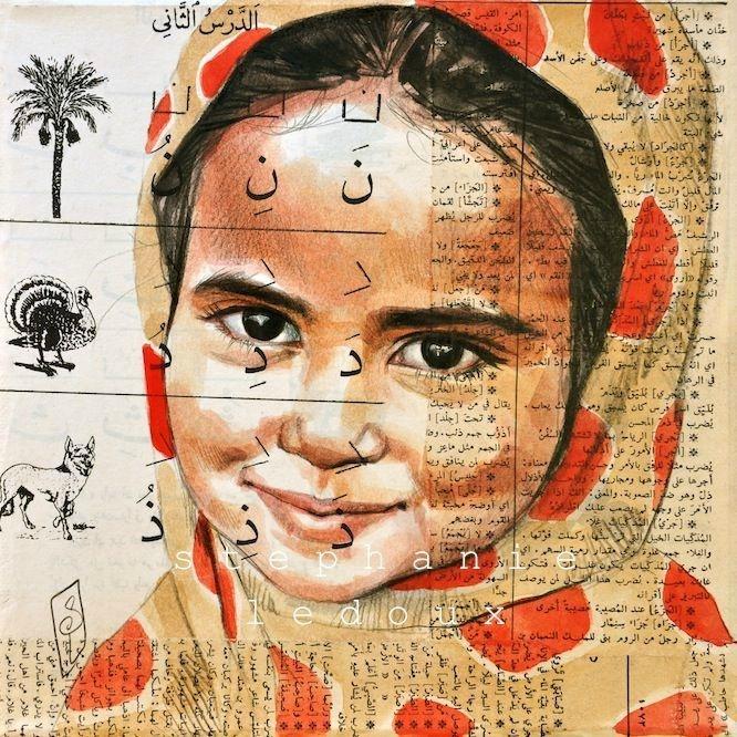 Stephanie Ledoux:  Yéménite au voile à pois