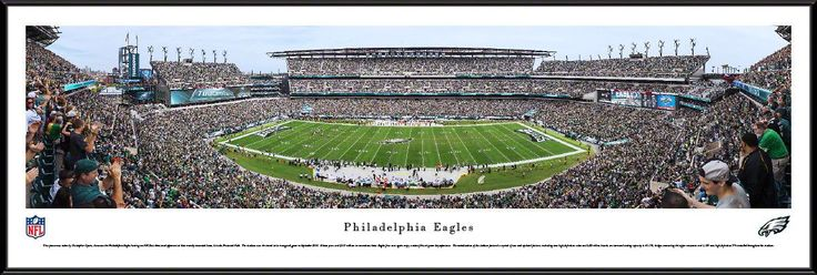 Philadelphia Eagles Panoramic Picture Framed