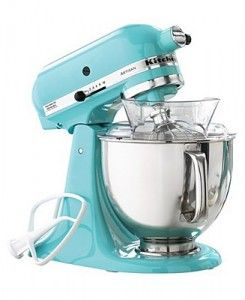 KitchenAid Stand Mixer in Aqua: Dreams Kitchens, Color, Stands Mixers, Tiffany Blue, Turquoi Kitchens, Martha Stewart, Kitchens Aid Mixers, Products, Kitchenaid Mixers