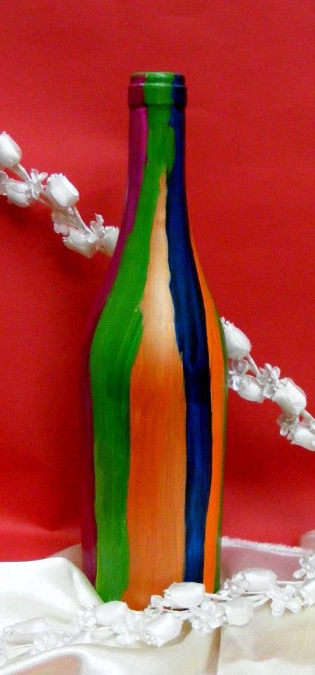 #handmade #vase #bottle #paint by Oana Iorgulescu
