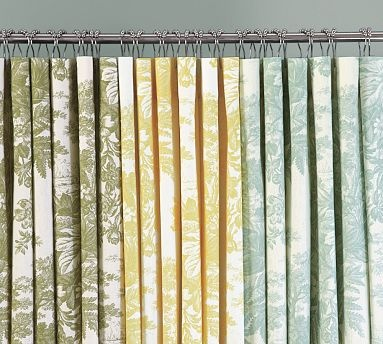 Toile Shower Curtains From Pottery Barn Could Be Split