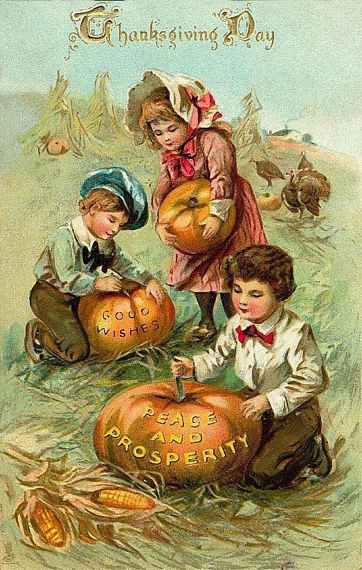 Vintage Autumn Postcards 98889