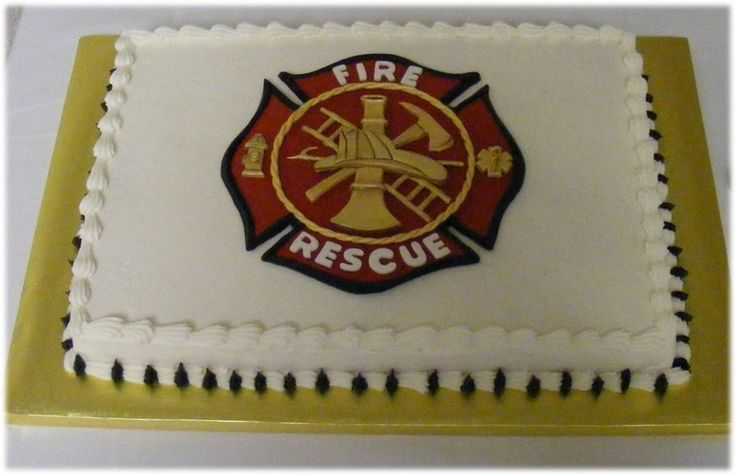 Firefighter Sheet Cake Is One Of Three Cakes I Did