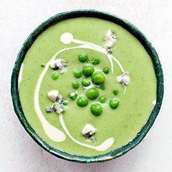 Zupa brokułowo-groszkowa z gorgonzolą | Blog | Kwestia Smaku