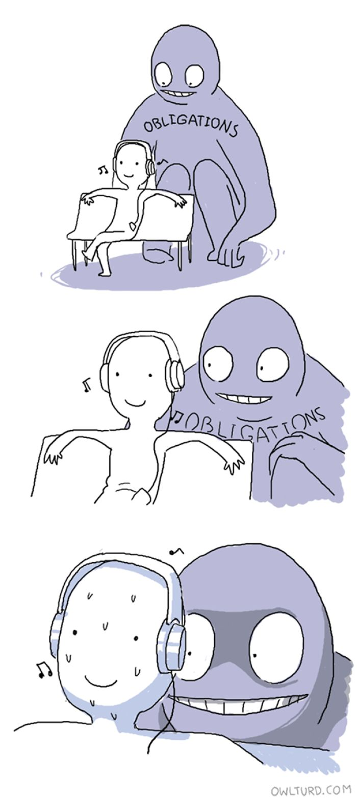 Me right now. Owlturd Comics   Bored Panda