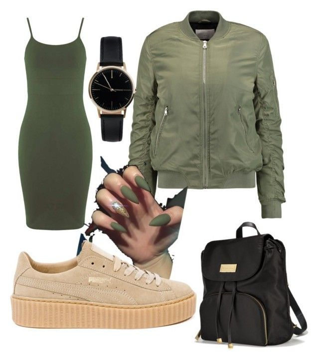 """Untitled #17"" by itsairuanna ❤ liked on Polyvore featuring Miss Selfridge, W118 by Walter Baker, Victoria's Secret, Puma and Freedom To Exist"