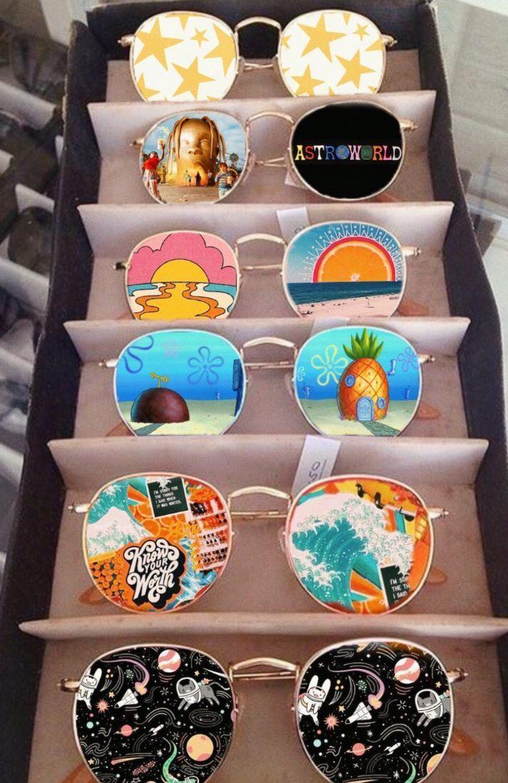 künstlerisches Bild mit cooler Kunst-Sonnenbrille