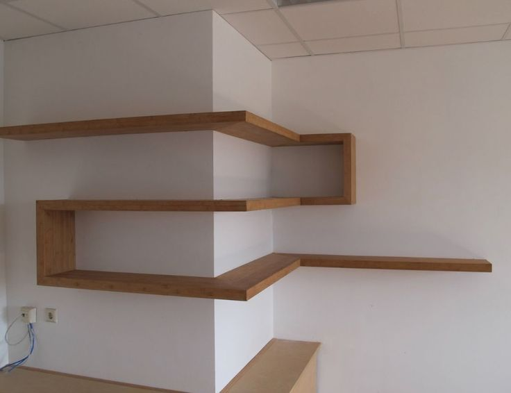 Interesting twist on shelving. Looks simple enough to do....