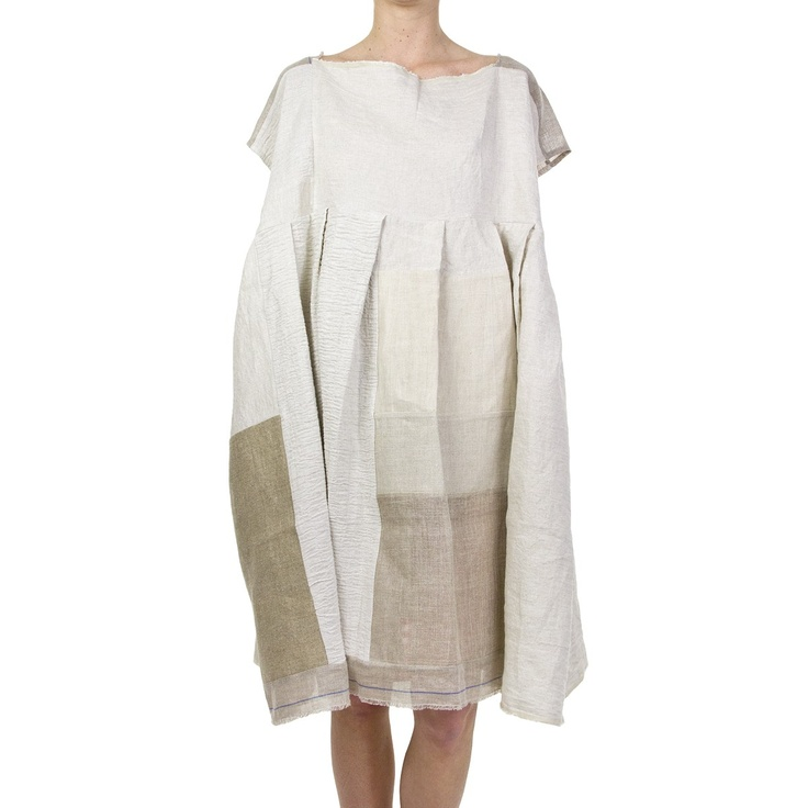 Daniela Gregis, Tarlatan Linen Dress with Selvage Hem