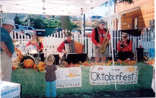 The Gordon Kohl band of Chula Vista, CA performs at Oktoberfest. This fun event sponsored by St. Elizabeth of Hungary Catholic Church in Julian, CA