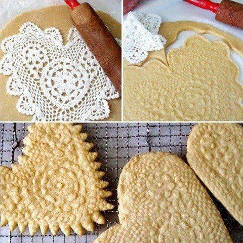 Lace shortbread cookies.