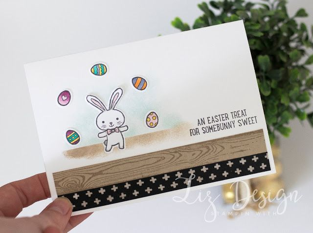 Stampin Up Easter Basket Bunch Card by Stampin with Liz Design