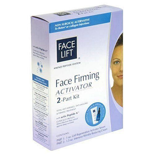 Face Lift Facial Firming Activator Kit (Cell Regeneration Activator Serum, Intensive Wrinkle Reducing Cream) by FaceLift. $19.00. Minimize the aappearance of enlarged pores, and discolorations of the skin. Non surgical alternative to botox or collagen injections. Gentle and non-irritating. Amino Peptide System. Non surgical alternative to Botox or Collagen injections. Total anti-wrinkle, anti-sagging & firming treatment with Activ-Peptide A. Clinically proven more effecti...