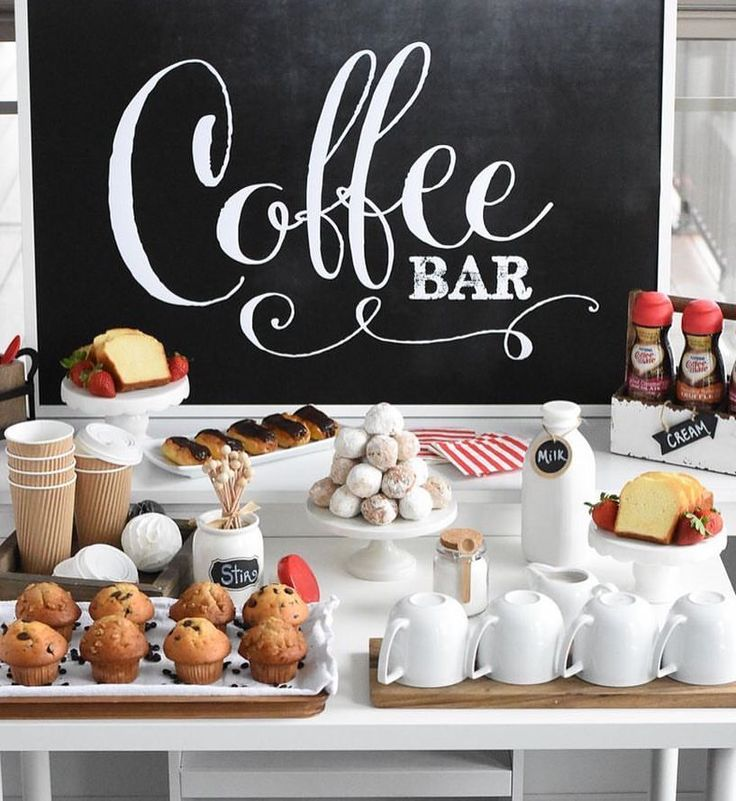 17 best ideas about coffee bar party on pinterest hot for Things in a coffee bar