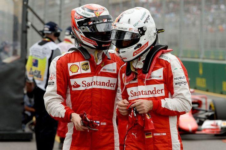 Raikkonen Vettel Ferrari