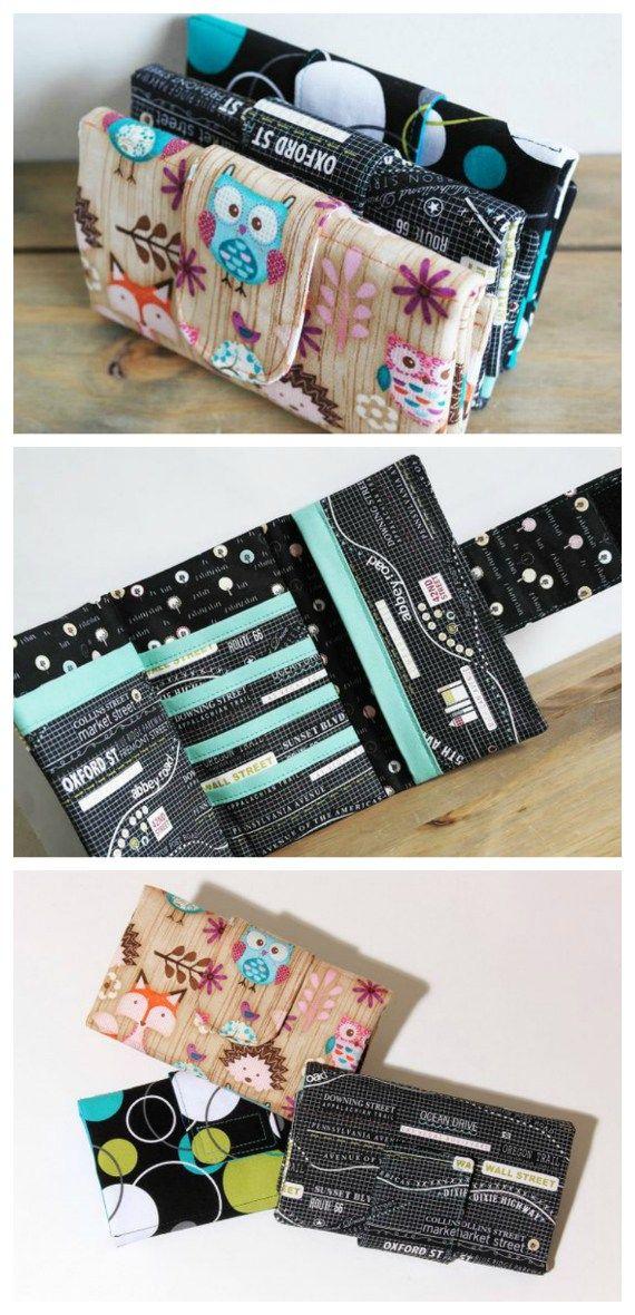 Women U0026 39 S Trifold Cash Wallet Sewing Pattern