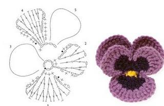 crochet pansy - add to must learn list