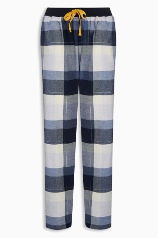 Buy Blue Flannel Check Bottoms from the Next UK online shop