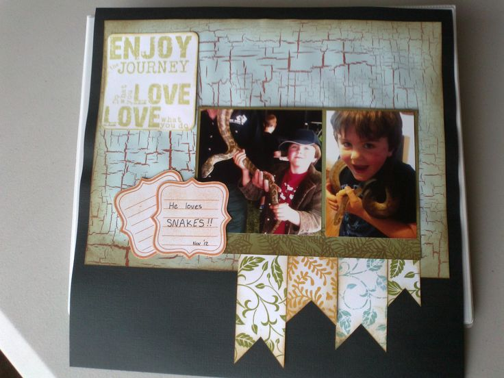 Layout with Kaszazz papers and stamps.