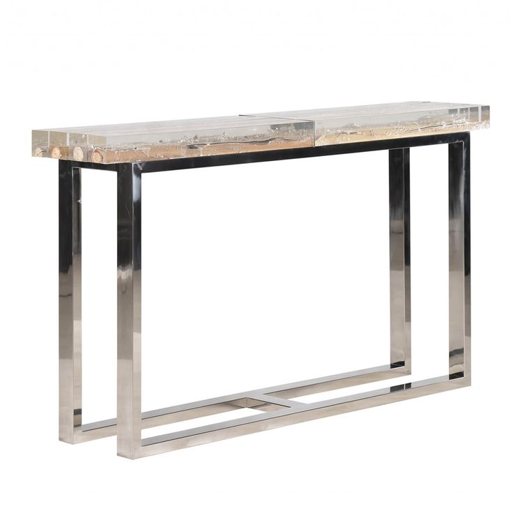 Driftwood In Acrylic Console | Michael Dawkins Home