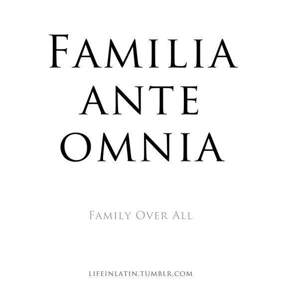 """""""Family Over All"""" Courtesy of peoplechangememoriesdontnever"""