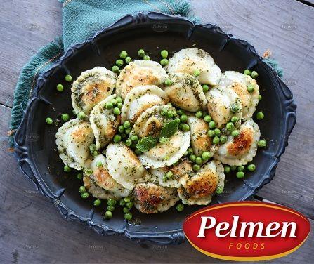 Peas & Mint Sauce Perogie! Recipe: http://pelmen.com/recipe?id=142#.WPdr3_krKUk