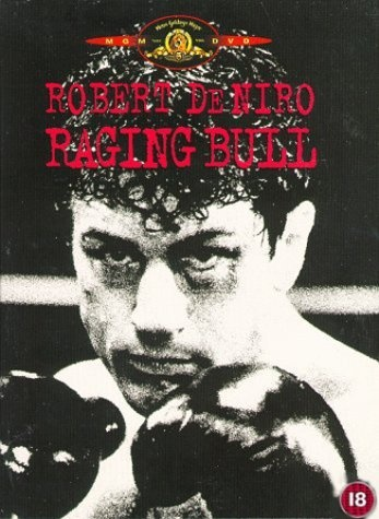 """Raging Bull (1980) directed by Martin Scorsese, based on the book by Jake LaMotta, starring Robert De Niro, Cathy Moriarty and Joe Pesci. """"An emotionally self-destructive boxer's journey through life, as the violence and temper that leads him to the top in the ring, destroys his life outside it."""""""