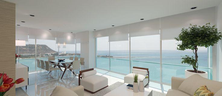 Bay View Apartments. En la playa de Chipipe Salinas