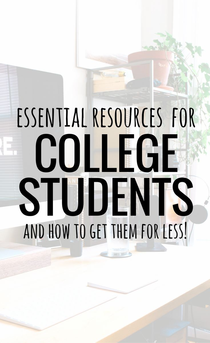 This post shares the top essential resources for college students and how to get them for less with a student discount!