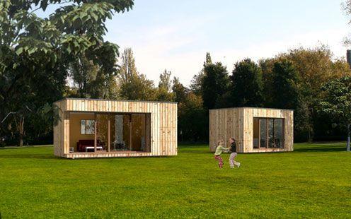 Micro maison pr fabriqu e contemporaine cologique 017 for Micro maison bois