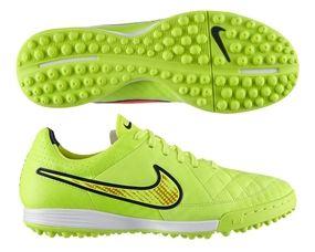 Nike Turf Shoes | 631517-770 | Nike Tiempo Legacy Soccer Turf Shoes (Volt/Hyper Punch/Black) | SOCCERCORNER.COM