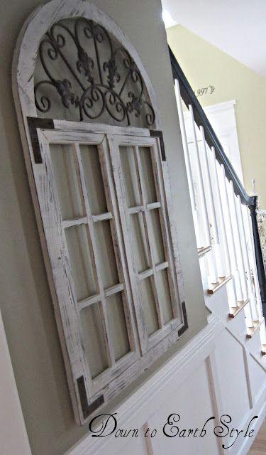 Best 25 old window frames ideas on pinterest for Decorative door frame ideas