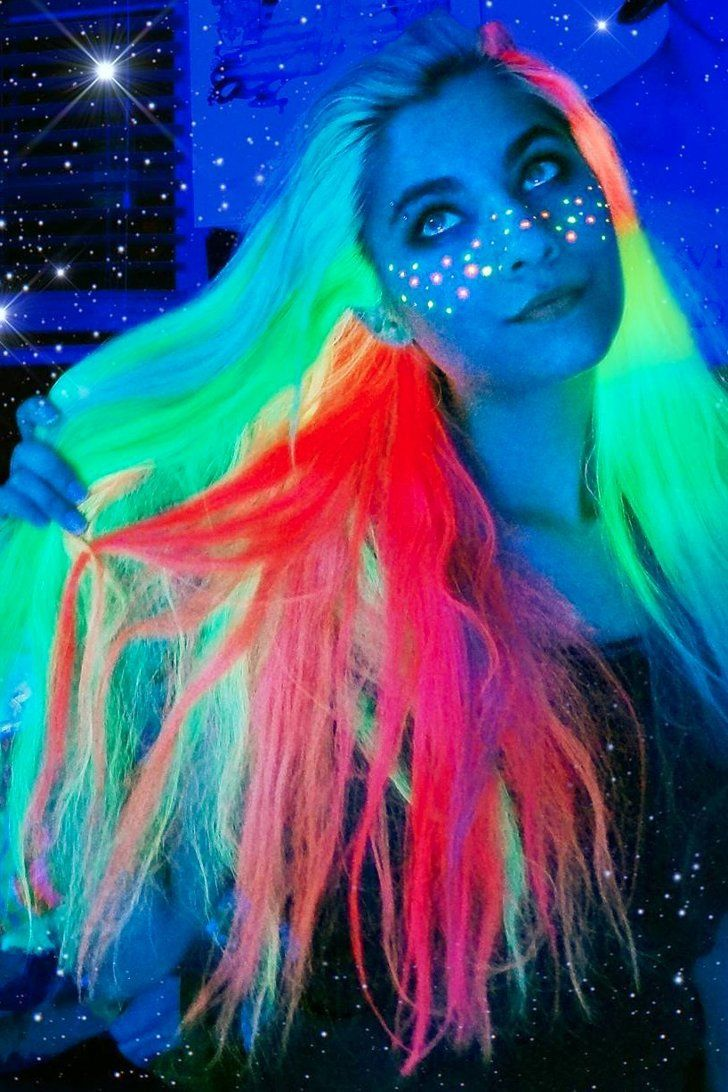 Light Up the Night With Glow-in-the-Dark Unicorn Hair